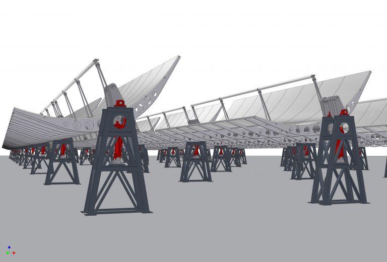 Parabolische zonnecollector